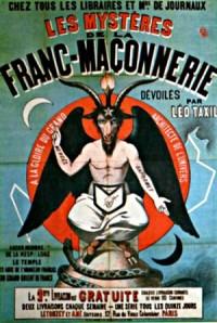 Illustration d'un pamphlet contre la Franc-maçonnie