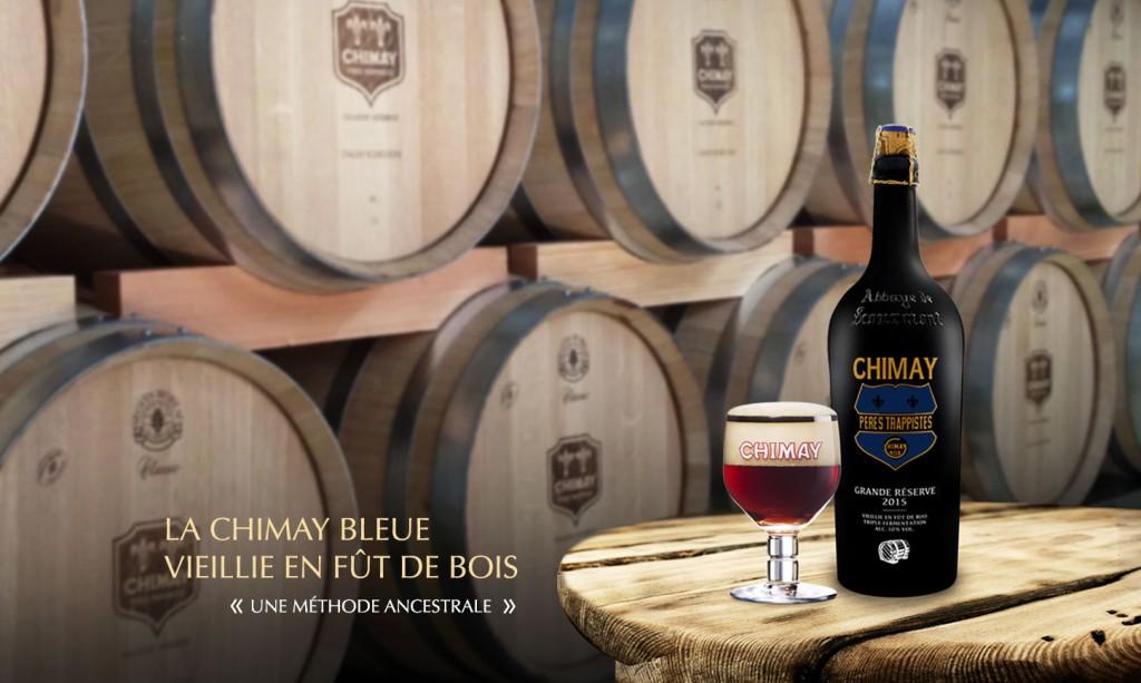 La chimay bleue grande r serve 2015 vieillie en f t de bois sur bierorama bierorama - Fut en bois ...