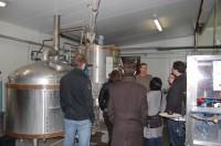 visite de la brasserie du Pays flamand par l'équipe SB