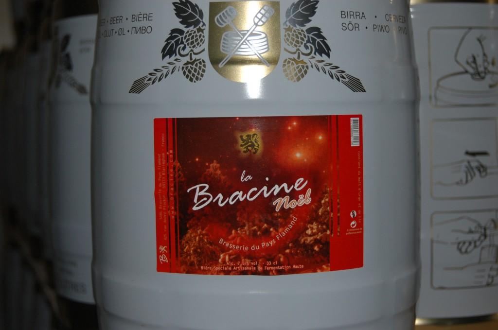 Futs 5 litres de bière Bracine de Noël