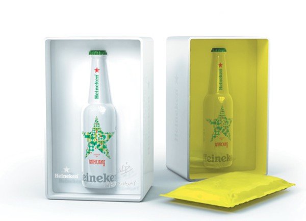 Metronomy repense l'habillage de la bouteille Heineken