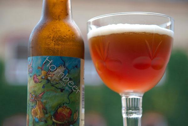 Bouteille de bière Hornbeer