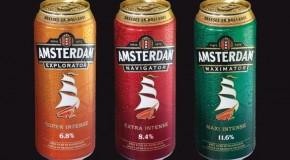 Nouveau look pour la bière forte Amsterdam.