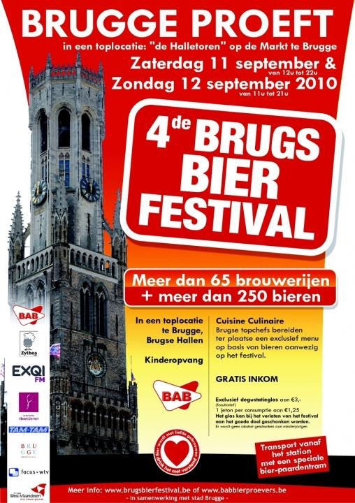 affiche du 4eme festival de la bière de Bruges