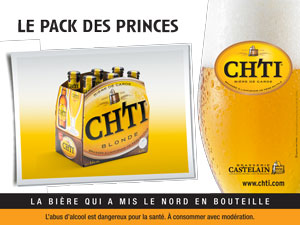 Campagne Chti monuments Paris Le pack des Princes