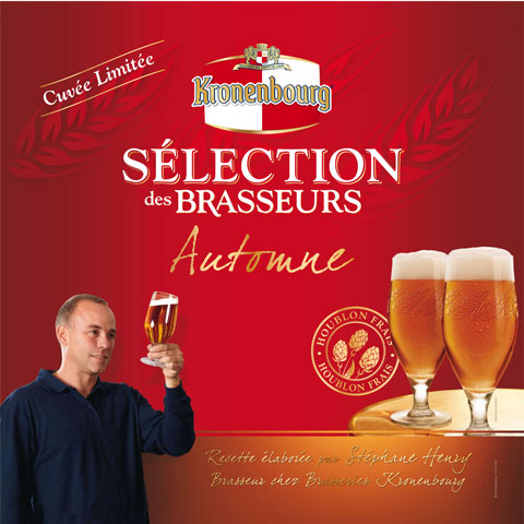Affiche de présentation du Brassin D'automne de la Brasserie     Kronenbourg