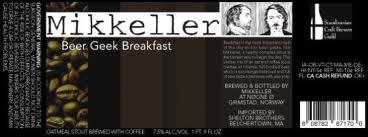 Etiquette de la bière Beer Geek Breakfast