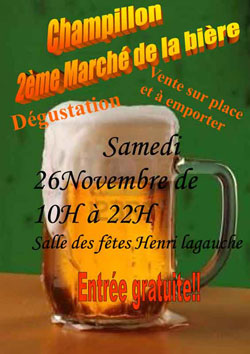 Affiche de la deuxième fête de la bière de la ville de Champillon