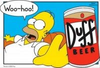 Homer Simpsons et la Duff Beer